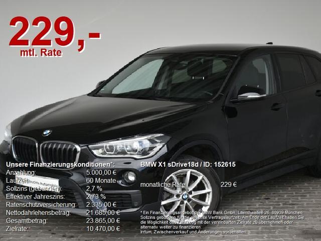 BMW X1 - sDrive18d LED.Navi.ParkAss.PDCvo hi