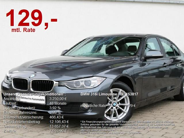 BMW 3er - 316i Limousine M-Lenkrad AHK/NAVI/XENON/Blue/SH