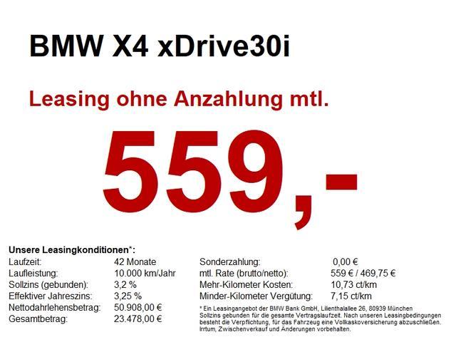 BMW X4 - xDrive30i  HUD.LED-SW.AHK.LIVE COCKPIT