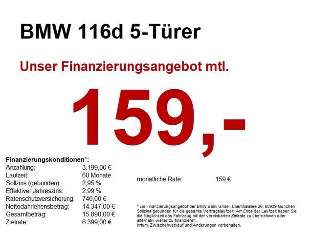 BMW 1er - 116d 5-Türer Sport Line NAVI.LED.PDC