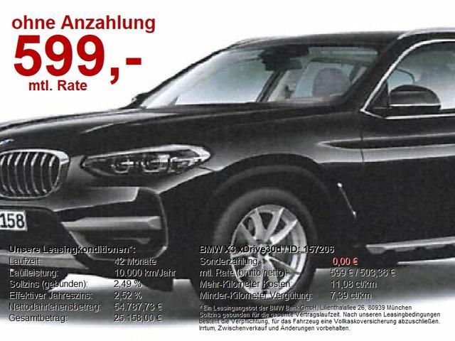 BMW X3 - xDrive30d xLine ACC Navi LED AHK LiveCockpit
