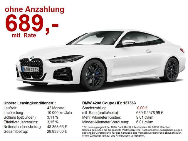 BMW 4er - 420d Coupe M-Sport Pro LivePro HiFi-h/k DAB SAG