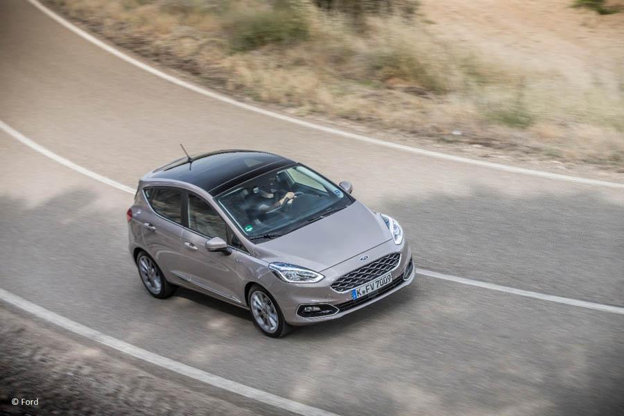 Ford Fiesta Fahraufnahme EU Neuwagen