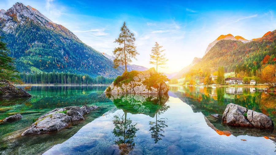 berchtesgaden, berchtesgadener land, voralpen, hintersee, watzmann, alpen