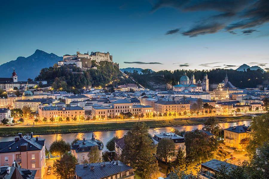 Blick auf die Altstadt Salzburg Austria
