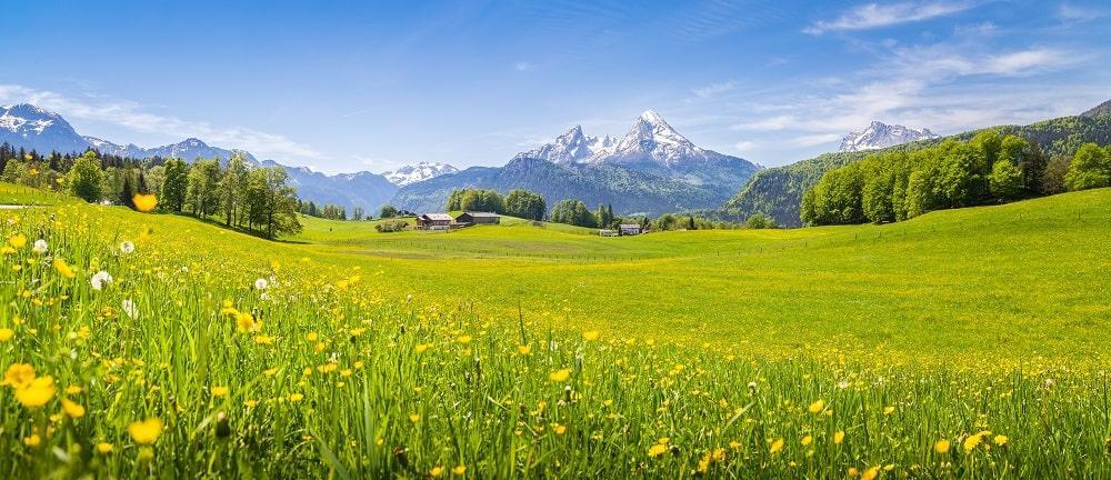bergpanorama voralpen berchtesgaden