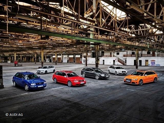 25 Jahre Audi RS A4 A6 A3 Quattro in einer Lagerhalle