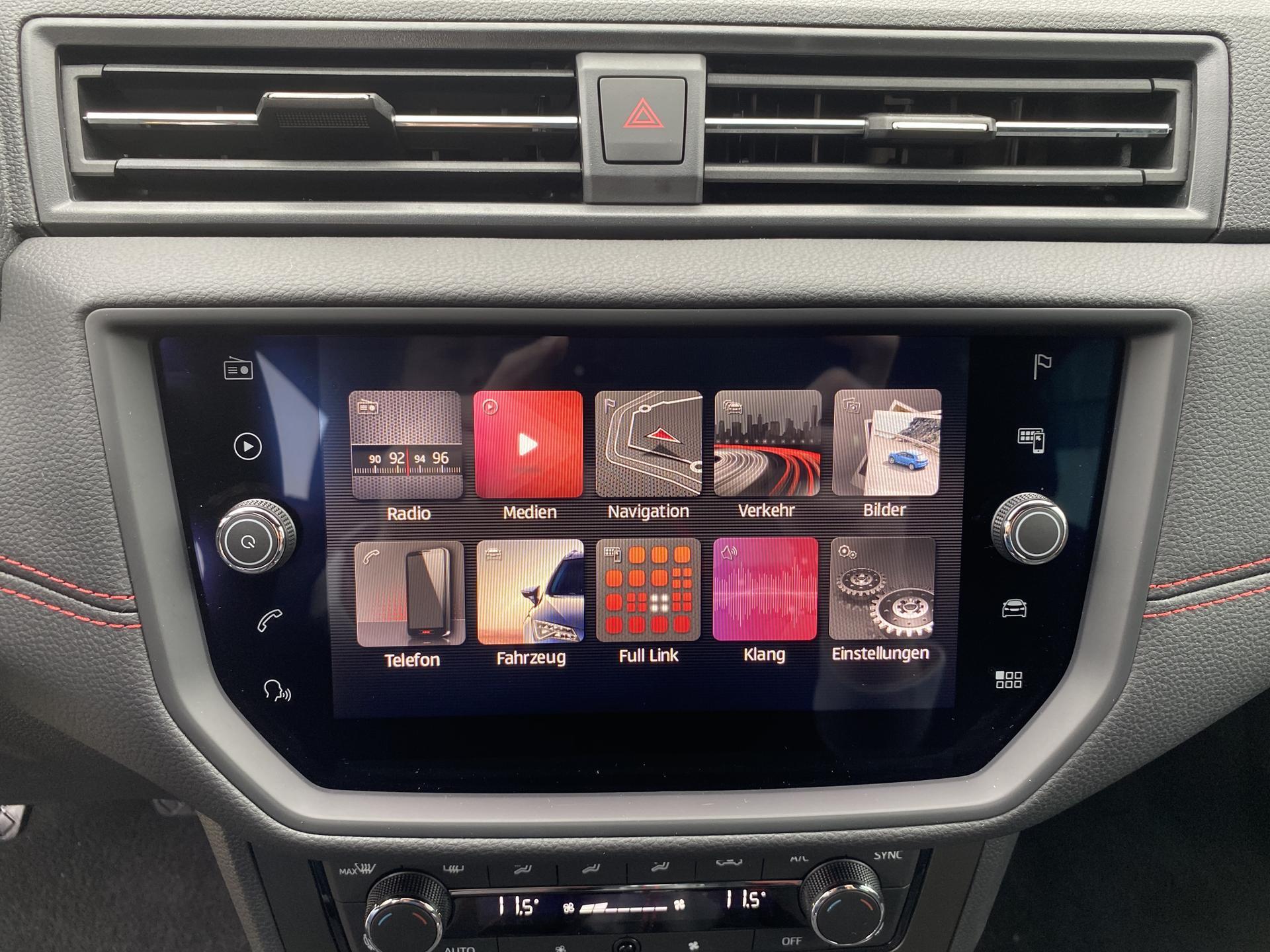 Seat Arona 8-Zoll-Touchscreen