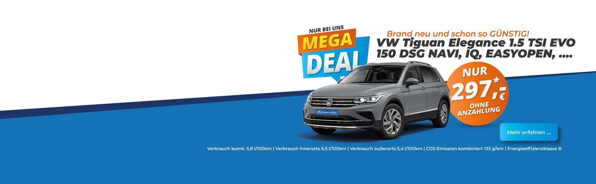 Angebot EU Neuwagen Leasing VW Tiguan