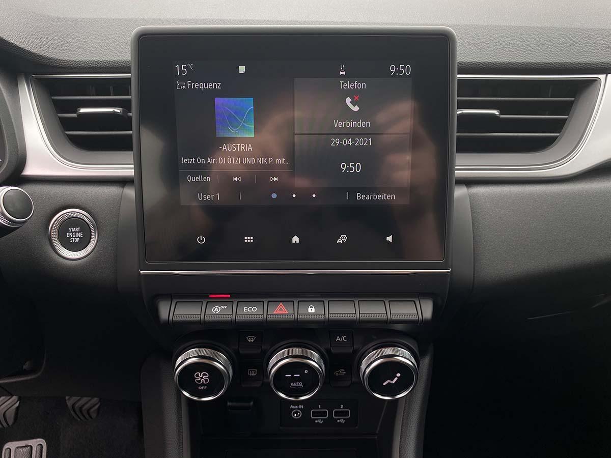 Renault Captur Experience TCe 100 Innenraum Multimedia