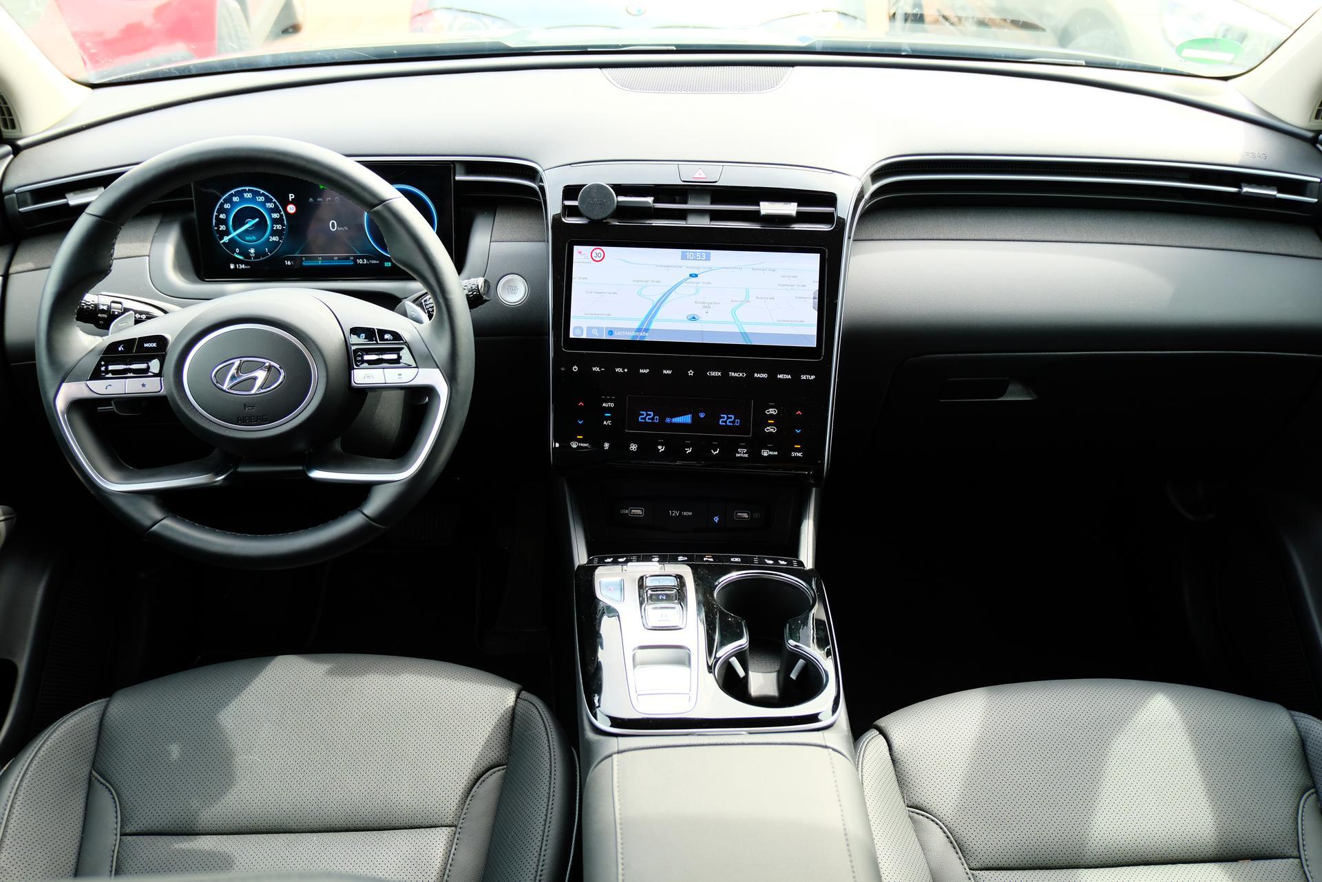 Hyundai Tucson 1.6 T-GDI HEV 4x4 Innenraum Highlights