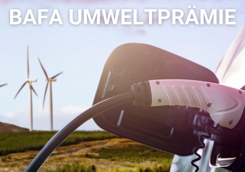 Windmühle, Plug-in Hybrid Fahrzeug, Ladekabel, BAFA Förderung auch für EU Neuwagen