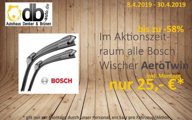 Bosch AeroTwin-Wischer für nur 25,- €