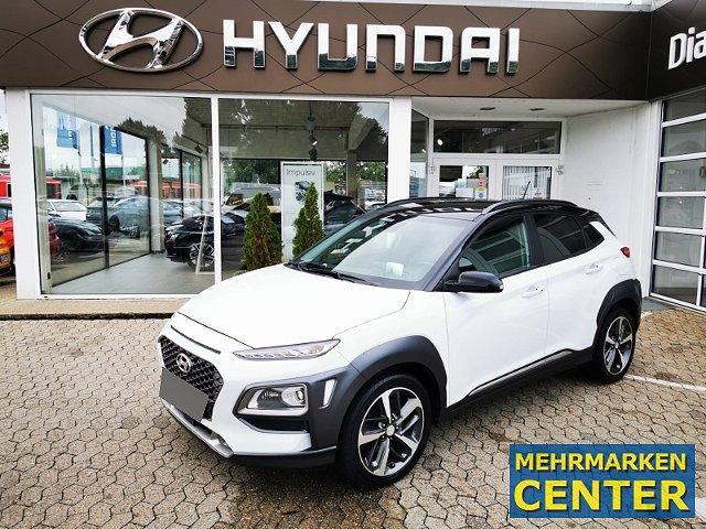 Hyundai KONA - Premium 4WD 1.6 T-GDI Leder LED Navi Keyless Klimasitze e-Sitze HUD Rückfahrkam.