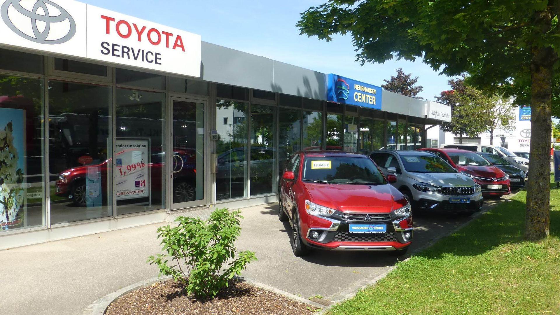 MEHRMARKEN CENTER und Toyota Servicepartner. Autohaus Eisenhofer in Augsburg  mit über 100-jähriger Tradition.
