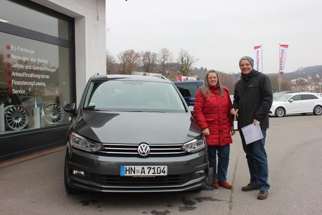Auslieferung in Gundelsheim - VW Touran Marathon