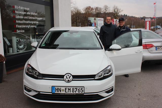 Auslieferung in Gundelsheim - VW Golf Limo