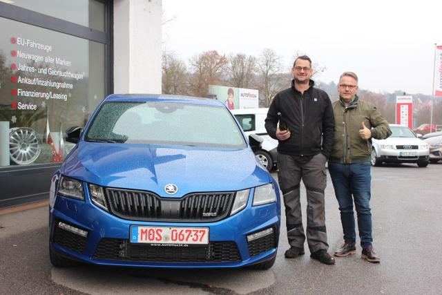 Auslieferung in Gundelsheim - Skoda Octavia RS an unseren Partner Marco Bauhardt