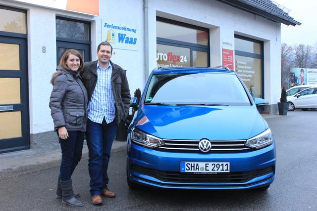 Auslieferung in Gundelsheim - VW Touran
