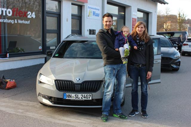 Auslieferung in Gundelsheim - Skoda Superb Kombi Sportsline