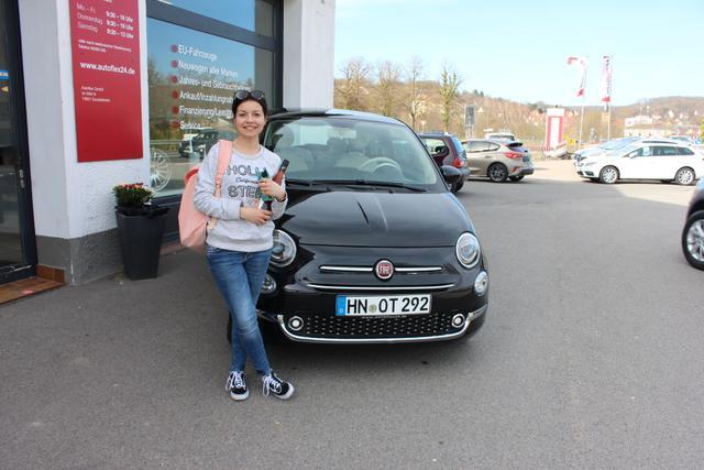 Auslieferung in Gundelsheim - Fiat 500 Lounge