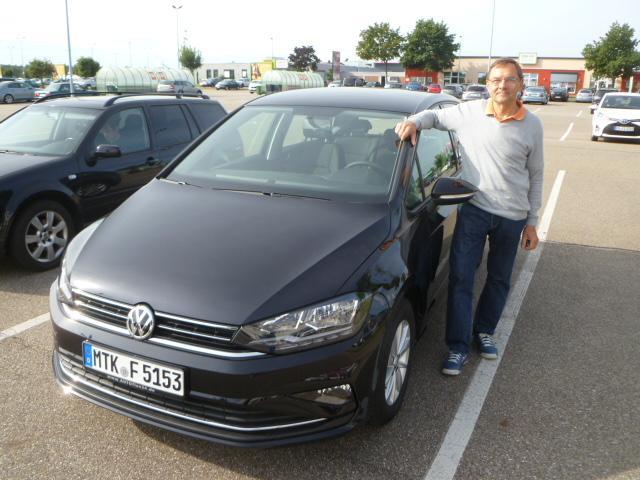 Auslieferung in Waghäusel - VW Golf Sportsvan