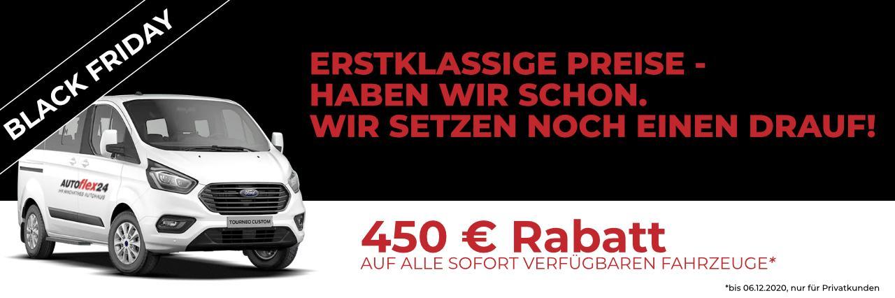 Sonderaktion: 450 € Rabatt auf sofort verfügbaren alle Lagerfahrzeuge