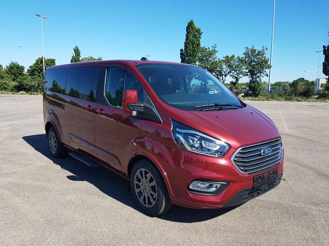 Lagerfahrzeug Ford Tourneo Custom - L2 TitaniumX mHEV 185 Automatikg. 8 Sitz Klima Vor Hint PDC ADAPTTemp SHZ LMF Kamera NAVI Xenon Leder AHK Totw Spur