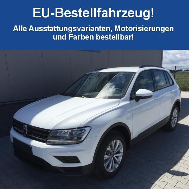 "Volkswagen Tiguan ""Edition Comfortline"" (2) SONDERMODELL 2.0 TDI SCR BMT 110KW DSG , LED-SCHEINW 3-ZONEN-KLIMA COMPOSITION MEDIA/CD/SD/USB/BLUETOOTH SITZHEIZUNG PARKLENKASS. MIT PS VO+HI+RÜCKFAHRKAMERA ADAPT. TEMPOMAT 17"" ALU MULTIFUNKTIONS-LEDERLENKRAD DACHRELING SUNSET"