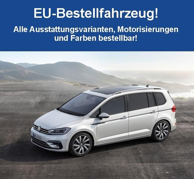 "Volkswagen Touran ""Highline"" (4) 1.5 TSI 110KW DSG inkl. RADIO COMPOS. MEDIA/SD/CD/USB/BLUETOOTH , 3-ZONEN-KLIMAAUTOMATIK SUNSET DACHRELING NEBELSCH. MIT KURVENL. ACC/FRONT ASSIST/CITY BRAKE 16"" ALU FAHRLICHTAUTOM. MITTELARMLEHNE REGENSENSOR/INNENSPIEGEL ABBLENDEND"