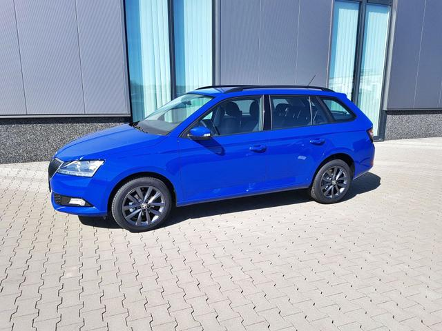 "Skoda Fabia Combi ""Style"" (2) 1.0 TSI 70KW/95PS, 5 Jahre Garantie, 16"" Alufelgen, Climatronic, Winterpaket, Parksensoren, Tempomat, Mittelarmlehne, Front Assist, Multifunktions-Lederlenkrad, Radio SWING PLUS, SmartLink, Easy Start, Nebelscheinwerfer, Dachreling, Maxi-DOT, Licht-/Regen"