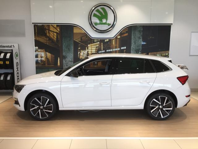 "Skoda Scala ""Ambition"" (2) 1.0 TSI 115PS, 5 Jahre Garantie, 16"" Alufelgen, Climatronic, Sitzheizung, Parksensoren hinten, Multifunktions-Lederlenkrad, Armlehne vorn, Radio Swing, Smart Link, Tempomat, Teil-LED-Scheinwerfer, Front Assist, Lane Assist"