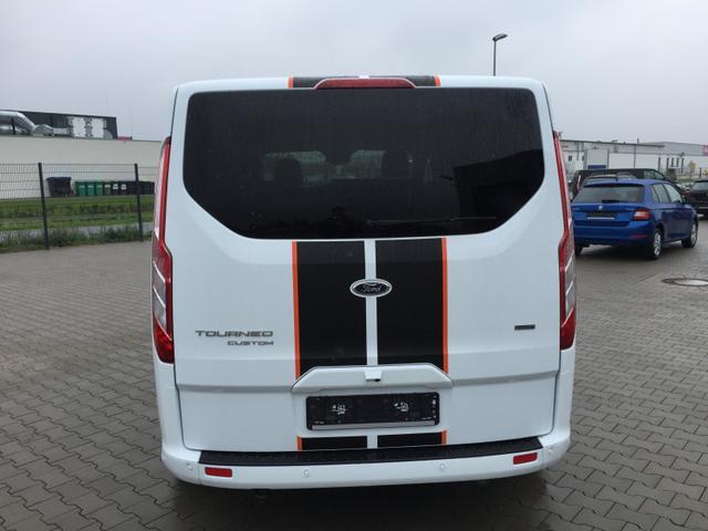 """Ford Tourneo Custom - """"Sport"""" (7) L1H1 2.0 TDCi 185PS mHEV - SPORT-STYLINGKIT ELEKTR. FAHRERSITZ/TEILLEDER SITZHEIZUNG RADIO 23/BT/DAB/SYNC3/USB KLIMA VO HI PS VO/HI TEMPOMAT ALARM PRIVACY GLAS LICHT-/REGENSENSOR BEHEIZB. FRONTSCHEIBE RESERVERAD 17"""" ALU 3. REIHE MIT 3 EINZELSITZEN Bestellfahrzeug, konfigurierbar"""