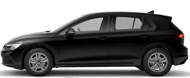 "Volkswagen Golf-8 (5-Türer) (NEUES MODELL) ""Life"" (2) 1.5 TSI 130PS, 29% SPAREN! WINTER-PAKET KLIMAAUTOMATIK RADIO COMPOSITION/BT/2x USB/APP-CONNECT LED-SCHEINW./-RÜCKLEUCHTEN AMBIENTEBEL. ACTIVE INFO DISPLAY PS VO/HI INDUKTIVE LADESTATION STARTKNOPF MITTELARMLEHNE VO+HI MULTIFUNKTIONS-LEDERLENKRAD 16"" ALU"