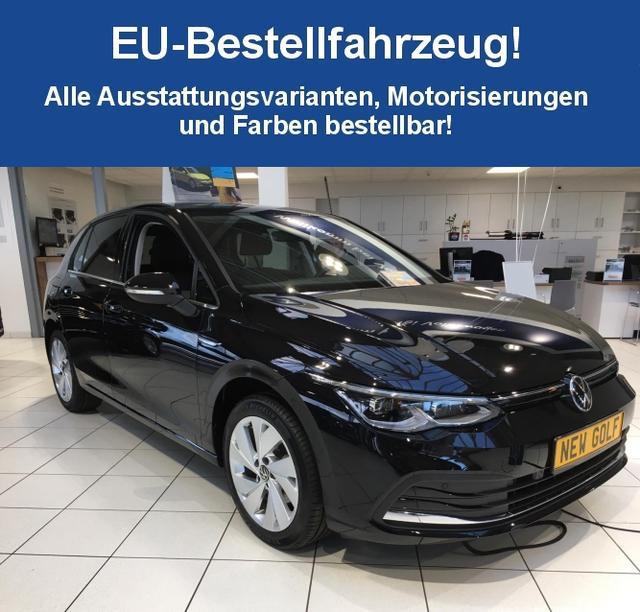 "Volkswagen Golf-8 (5-Türer) (NEUES MODELL) ""Basis"" (2) 1.0 TSI 110PS inkl. KLIMAAUTOMATIK RADIO COMPOSITION/BT/2x USB LED-SCHEINW./-RÜCKLEUCHTEN ACTIVE INFO DISPLAY SPURHALTEASSISTENT STARTKNOPF ELEKTRISCHE FENSTERHEBER VO/HI MULTIFUNKTIONS-LENKRAD"
