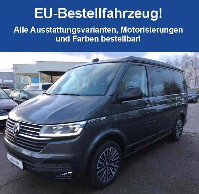 "Volkswagen California (T6.1) (NEUES MODELL) ""Beach Camper"" (6) 2.0 TDI 150PS inkl. 3 JAHRE GARANTIE CLIMATIC RADIO COMPOSITION COLOUR/USB/BT/APPCONNECT RESERVERAD MINIKÜCHE SCHIEBETÜRE RE HECKKLAPPE"