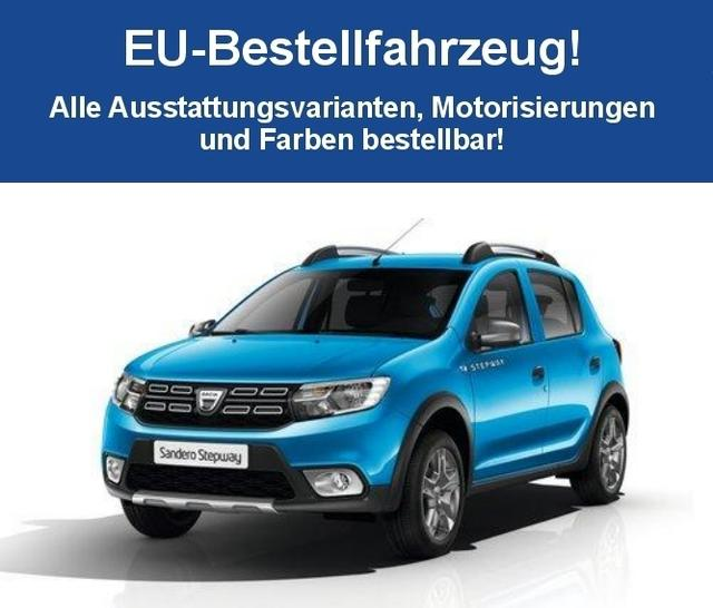 """Bestellfahrzeug, konfigurierbar Dacia Sandero - """"Access"""" (5) STEPWAY SCe 75, ABS ESP, Fahrer-/Beifahrerairbag, Seitenairbags vorne, Rücksitzlehne geteilt umklappbar"""