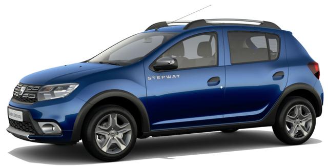 Dacia Sandero STEPWAY Ambiance 1.0 TCe LPG-GASANLAGE, Iron-Blau Metallic, Klimaanlage, MEDIA NAV Navigationssystem, Rückfahrkamera, Nebelscheinwerfer