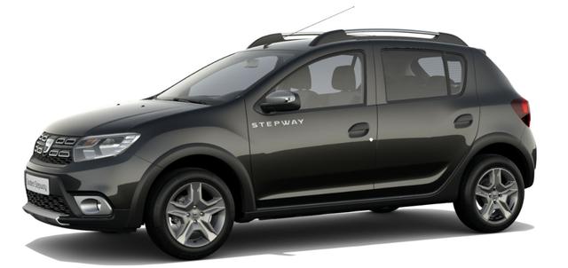 Dacia Sandero STEPWAY Ambiance 1.0 TCe LPG-GASANLAGE, Perlmutt-Schwarz Metallic, Klimaanlage, MEDIA NAV Navigationssystem, Rückfahrkamera, Nebelscheinwerfer