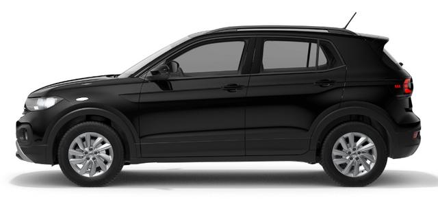 "Volkswagen T-Cross ""Life"" (2) 1.0 TSI 115PS, 5J Garantie, Schwarz, Parksensoren vo/hi, Rückfahrkamera, Winter-Paket, Climatronic, Keyless Access, App-Connect, Alarmanlage, Adaptiver Tempomat, 16"" Alu, Multifunktions-Lederlenkrad, 8"" Radio ""Ready2Discover"", Armlehne vorn, Front Assist"