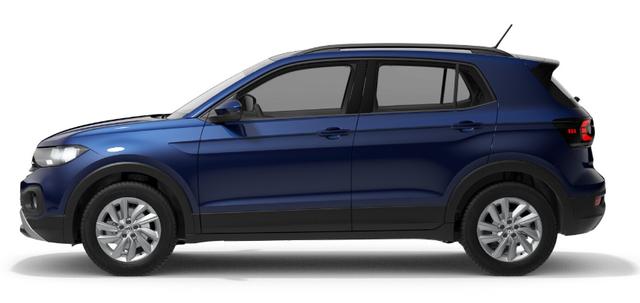 "Volkswagen T-Cross ""Life"" (2) 1.0 TSI 115PS, 5J Garantie, Blau-Metallic, Parksensoren vo/hi, Rückfahrkamera, Winter-Paket, Climatronic, Keyless Access, App-Connect, Alarmanlage, Adaptiver Tempomat, 16"" Alu, Multifunktions-Lederlenkrad, 8"" Radio ""Ready2Discover"", Armlehne vorn, Front"