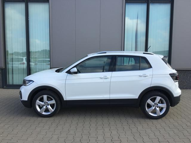 "Volkswagen T-Cross Lager (MY 2020) ""Style"" (2) Pure White,4J. Garantie,17""Alu,LED-Scheinwerfer,PDC vo/hi,Rückfahrkamera,Climatronic,Keyless,Winter-Paket,App-Connect,Alarm,ACC,NSW,Multifunktions-Lederlenkrad,Blind Spot, Lane Assist,Dachreling,Licht-/Sicht-Paket,Reserverad"
