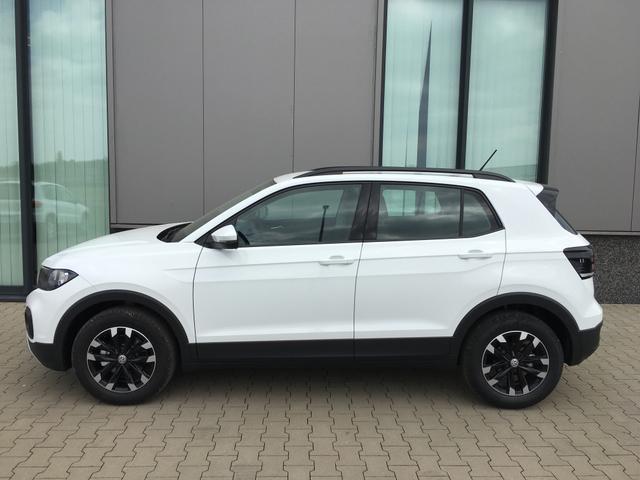 """Volkswagen T-Cross Lager """"Life"""" (7) 1.0 TSI 115PS, Pure-White, Reserverad, Außenspiegel elektrisch anklappbar, Nebelscheinwerfer, 16"""" Alufelgen schwarz, Climatronic, Parksensoren vo/hi, Dachreling, Multifunktions-Lederlenkrad, Radio Composition Media+Bluetooth, Armlehne vorn, Toter-Winkel-"""