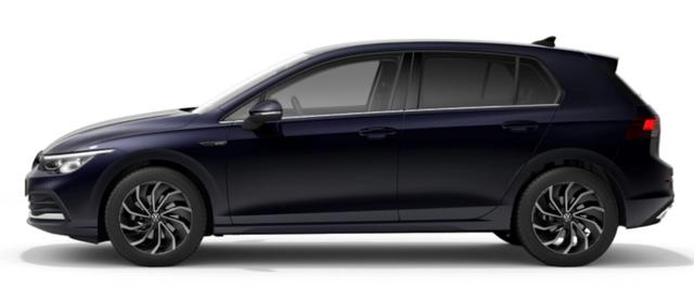 "Volkswagen Golf - ""Style"" (14) 1.5 eTSI (MILD-HYBRID) 150PS DSG (AUTOMATIK), Atlantik-Blau Metallic, Winterpaket, NAVI Discover Media, 17"" Alu Ventura, Abgedunkelte Scheiben, Rückfahrkamera, Parksensoren vo/hi, Fahrersitz mit Memory-/Massage-Funktion, Sportsitze vo, LED-PLUS-Scheinwer Vorlauffahrzeug"