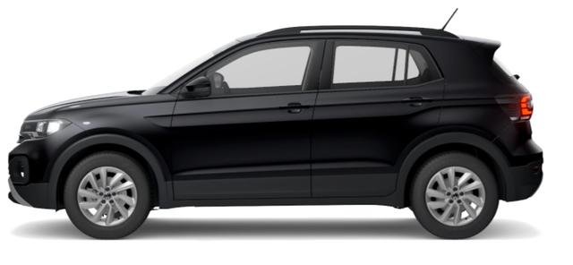 """Volkswagen T-Cross - """"Life"""" (2) 1.0 TSI 110PS, Deep-Black Perleffekt, Winterpaket, App-Connect, Parksensoren vorne und hinten, Klimaautomatik, Radio """"Ready2Discover"""", 16"""" Alu, Multifunktions-Lederlenkrad, DAB , Mittelarmlehne vorn, Front Assist, Dachreling Vorlauffahrzeug"""