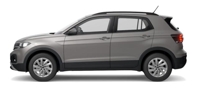 """Volkswagen T-Cross - """"Life"""" (2) 1.0 TSI 110PS, Limestone-Grey Metallic, Winterpaket, App-Connect, Parksensoren vorne und hinten, Klimaautomatik, Radio """"Ready2Discover"""", 16"""" Alu, Multifunktions-Lederlenkrad, DAB , Mittelarmlehne vorn, Front Assist, Dachreling Vorlauffahrzeug"""