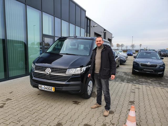 Uebergabe an Kunde Poeschl VW California T6.1 Reimport guenstiger kaufen