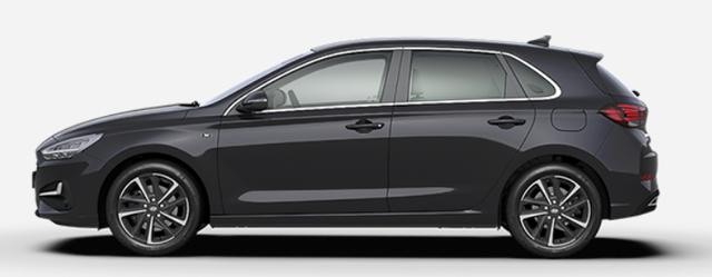 """Vorlauffahrzeug Hyundai i30 - """"Comfort"""" (Select ) (1) 1.0 T-GDI 120PS, Schwarz-Metallic, 15"""" Alufelgen, Klima, Lederlenkrad, Radio 8""""-Touchscreen/DAB/Android-Auto & AppleCarPlay, Parksensoren hinten, Rückfahrkamera, Nebelscheinwerfer, Tempomat, ZV mit Fernbedienung, Alarmanlage"""