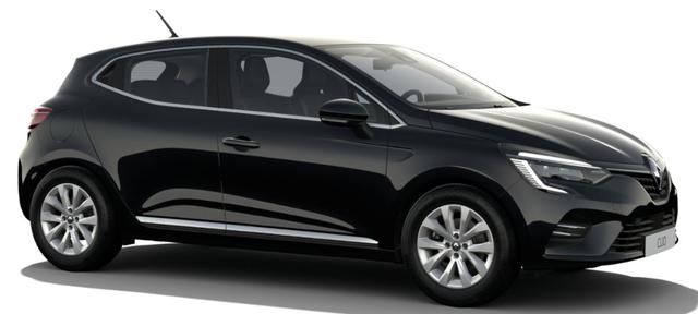 """Vorlauffahrzeug Renault Clio - """"Intens"""" (1) 1.0 TCe 90PS, Black-Pearl Metallic, Winter-Paket, Parksensoren vo/hi, Rückfahrkamera, 16"""" Alufelgen, FULL-LED-Scheinwerfer, Klimaautomatik, Keycard Handsfree, Multimedia 7"""" EASY-LINK, Soundsystem Arkamys, Tempomat, Außenspiegel elektrisch anklappbar"""