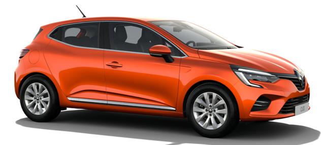 """Vorlauffahrzeug Renault Clio - """"Intens"""" (1) 1.0 TCe 90PS, Valencia-Orange Metallic, Winter-Paket, Parksensoren vo/hi, Rückfahrkamera, 16"""" Alufelgen, FULL-LED-Scheinwerfer, Klimaautomatik, Keycard Handsfree, Multimedia 7"""" EASY-LINK, Soundsystem Arkamys, Tempomat, Außenspiegel elektrisch anklappbar"""
